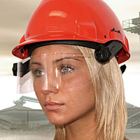 Face shield P1.1 type, helmet type: G 3000 Peltor